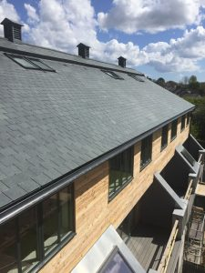 Natural Slate Roof, GRP balconies, Zinc Cladding - Marnick Roofing