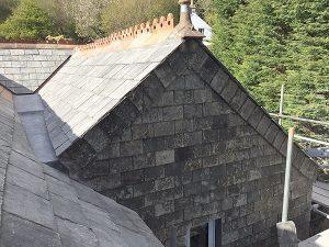 Natural slate roof extension in Reclaimed Cornish Delabole