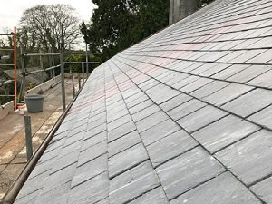Natural slate with copper nails - Marnick Roofing Cornwall