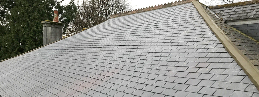 Natural Slate Fixed With Copper Nails Marnick Roofing