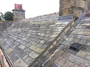 Re-roofing Delabole Rag slates - Marnick Roofing Cornwall