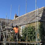 Reclaimed Delabole RAG natural slate fixed with copper nails – Trevoyan Farmhouse, St.Merryn