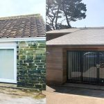 Redland Cambrian slates together with Cedar cladding, Restronguet Point